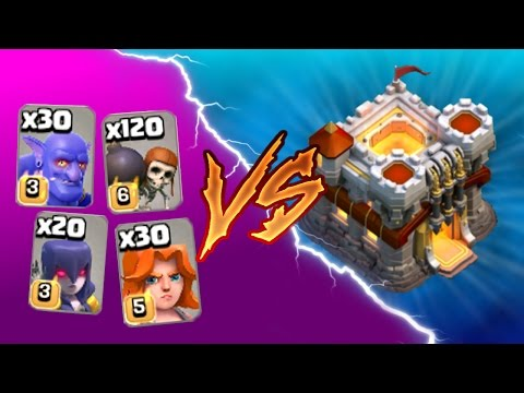 Clash Of Clans -  1 TROOP TYPE vs TOWN HALL 11! - Trolling Using All Mass Troops!