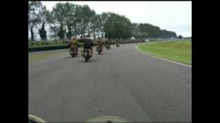 bsa 1943 wm20 parade lap of goodwood circuit