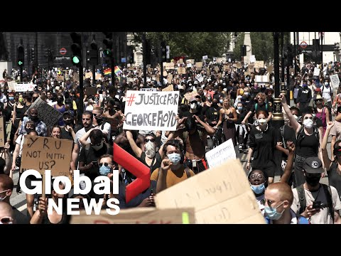 George Floyd Death: Protesters Rally In Berlin, London In Solidarity With U.S.