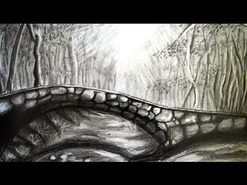Thumbnail: How to draw a scenery | bridge and forest | step by step.