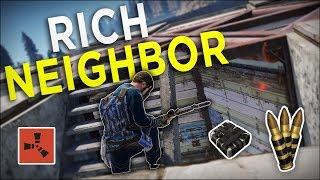 RAIDING my RICH NEIGHBOURS for EVERYTHING THEY OWN! - Rust Solo Survival #5 (END)