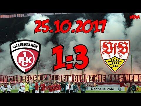 1. FC Kaiserslautern 1:3 VfB Stuttgart - 25.10.2017 - Verspätung ohne Double-Feture