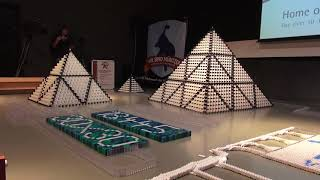 18,447 Dominoes - Biggest 3D Domino Pyramid Ever Made!