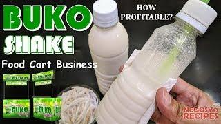 Buko Shake in a Bottle with Costing   Buko Shake Food Cart Negosyo