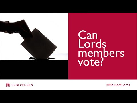 Can members of the Lords vote?