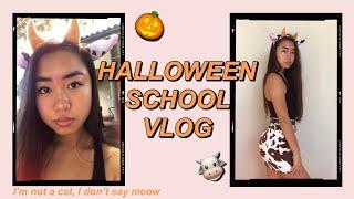 SPOOKY SCHOOL VLOG 🐮 B**CH I'M A COW