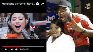 "Morissette performs ""Never Enough"" The Greatest Showman OST LIVE on Wish 107 5 Bus REACTION"