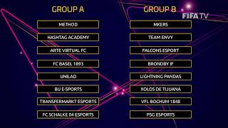 FIFA eClub World Cup 2018 - THE GROUPS!