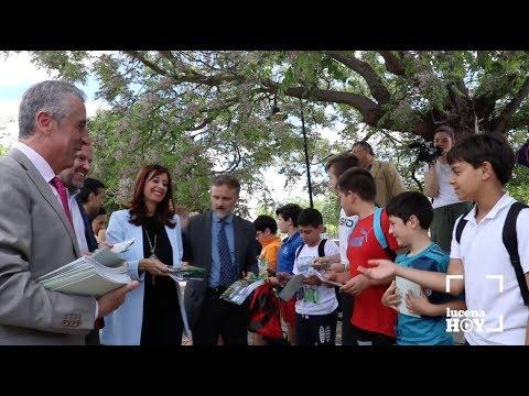 VÍDEO: La Consejería de Medio Ambiente presenta en Lucena el nuevo material didáctico sobre la Vía Verde del Aceite