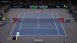 Great point from Berdych v Murray: 2016 ATP Masters 1000 Bercy QF