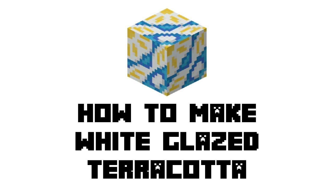 Minecraft Survival: How to Make White Glazed Terracotta