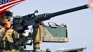 Machine Gun Shoot from Gunner's Turret on Humvee & MTV Cargo - 軍用車両(ハンヴィー&トラック)車載機関銃の走行射撃