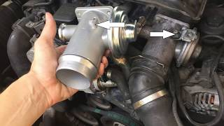 BMW E90 320d 163HP EGR AGR valve changing