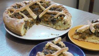 Грибной пирог - вегетарианский рецепт