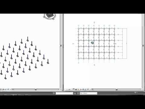 Revit Structure Basics, Grids, Columns, Beams and Beam Systems