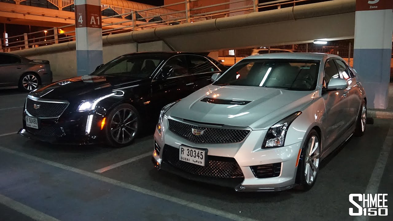 collecting a cadillac cts v and ats v in dubai plus flat. Black Bedroom Furniture Sets. Home Design Ideas