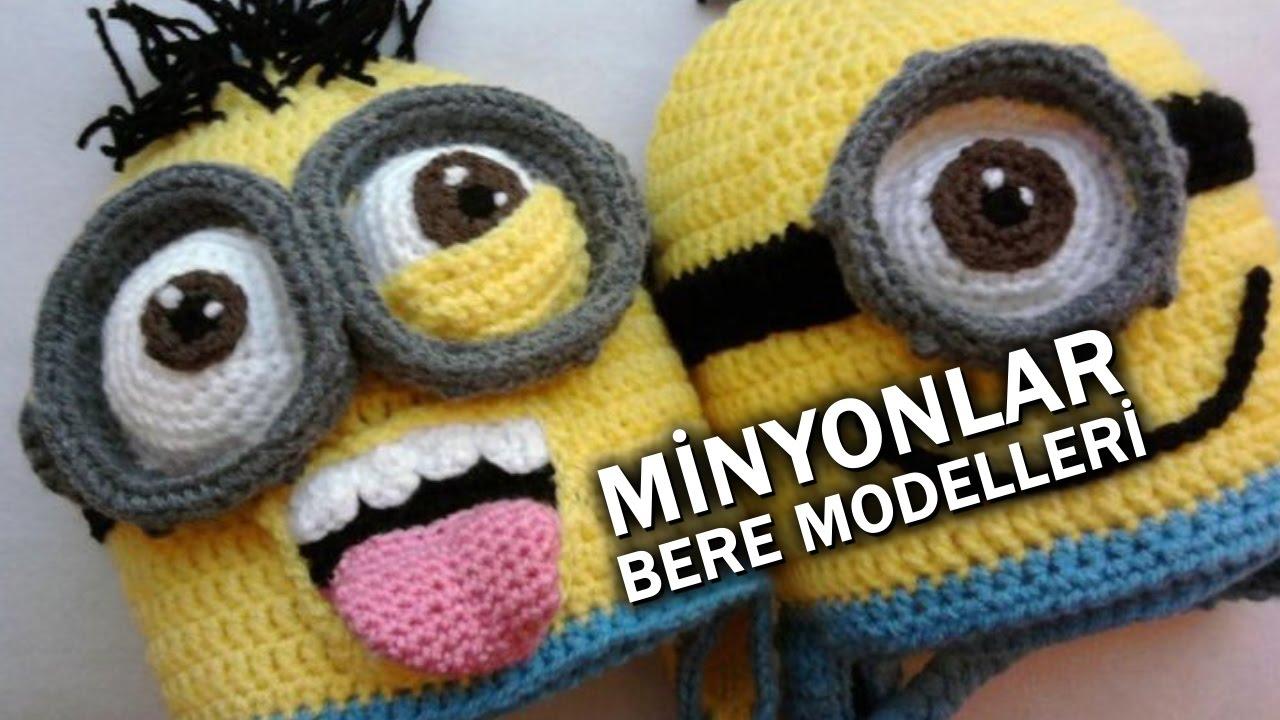 Minyonlar (Minions) El Örgüsü Bere Modelleri  fb7b63d250