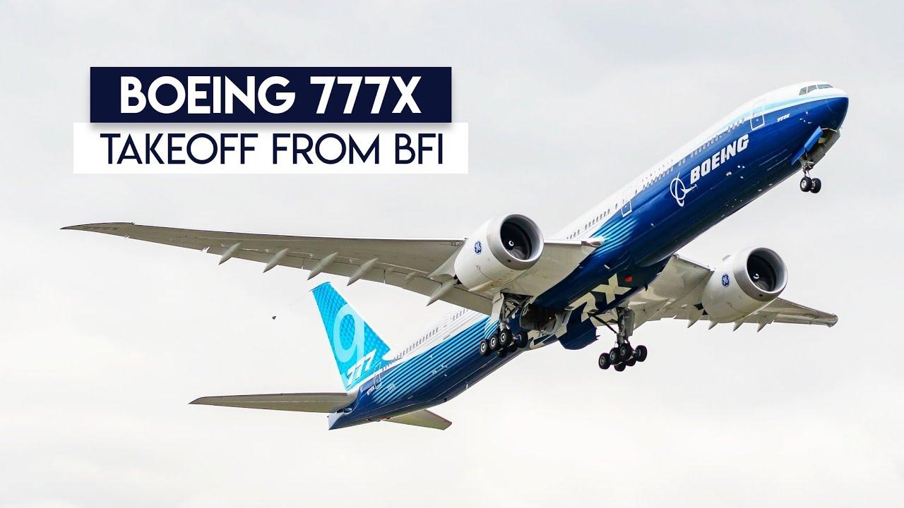 Boeing 777X departing BFI ?