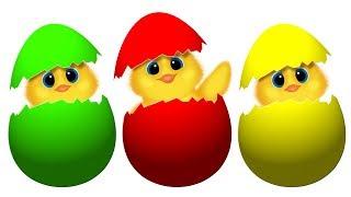 Мультик Смешные Цыплята. Разноцветные Яйца Учим Цвета. Развивающий Мультфильм Для Детей