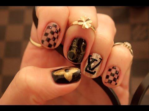 Louis Vuiton inspired nails
