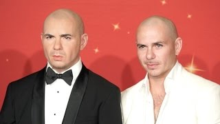 Pitbull unveils his wax figure at Madame Tussauds Orlando