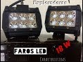 Como Son Los Faros Exploradoras LED - 6 LEDS 18W (UNBOXING) REVIEW 2018 Moto Accesorios