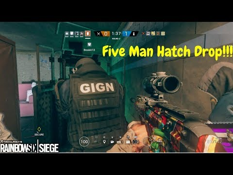 R6 Funny Moments - Crazy Hatch Drop pt.2 And Racist Legendary Skin??!!