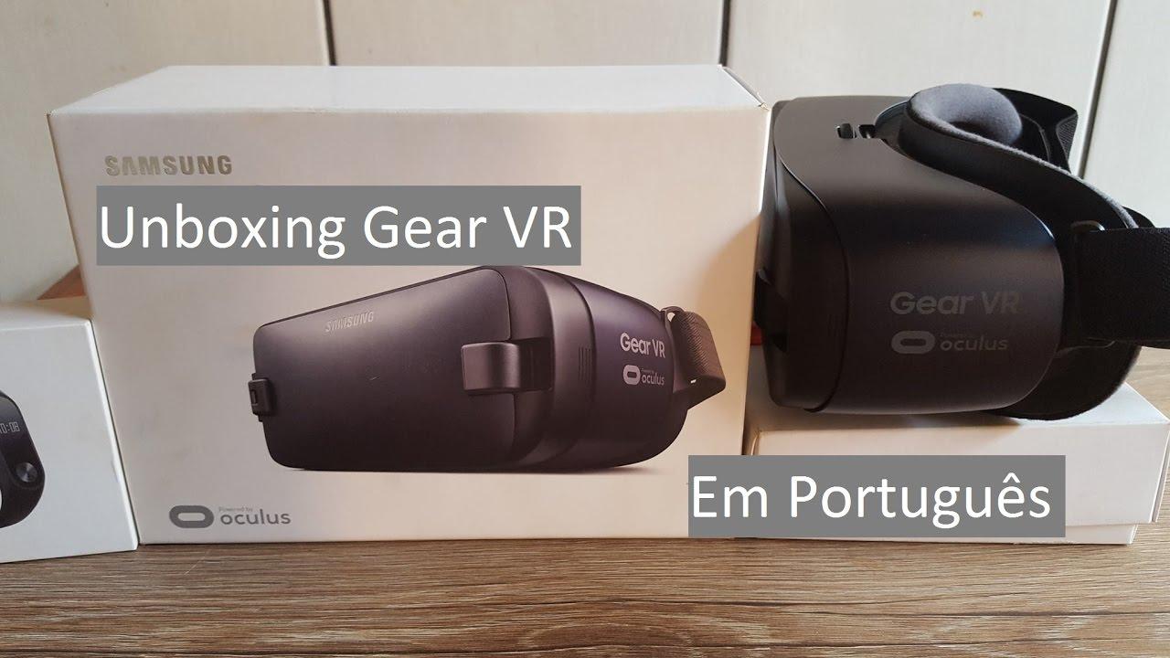 Unboxing  Gear VR o Óculos de Realidade Virtual da Samsung para Galaxy S6 e  S7 1bf2d4a0c1