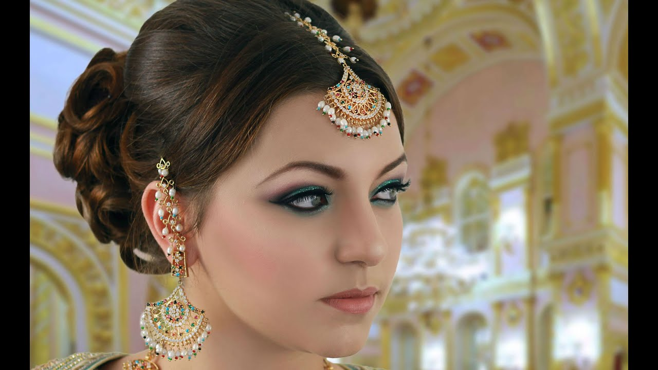 Traditional Bridal Makeup Looks : Turquoise and Pink Indian Bridal Makeup Tutorial - Asian ...