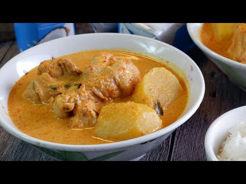 Super Easy Chinese/ Singapore Chicken Curry from Scratch 新加坡咖喱鸡 Adapted from Indian Curry Recipe