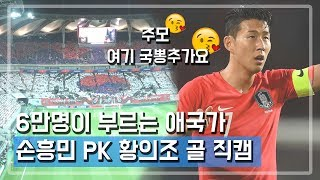 우루과이전 6만명 애국가 + 손흥민 PK 황의조 골 직캠 | 우리가 직관을 가야하는 이유