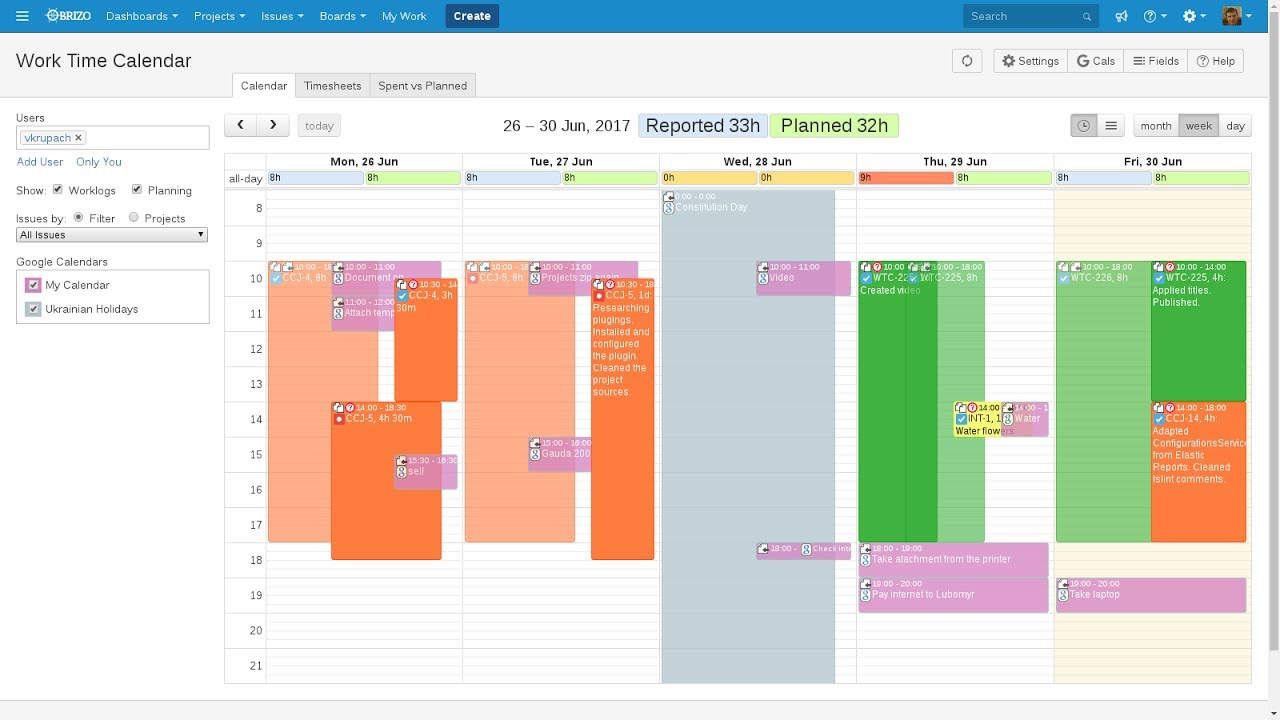 Work Time Calendar Plugin For Jira Cloud And Jira Server Youtube