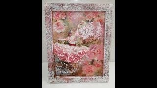 Romantic canvas with ballerina - Panza Romantica
