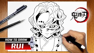 How to draw Rui from Kimetsu no Yaiba