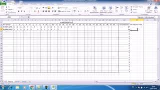 Excel - Kullanışlı Puantaj Cetveli Yapımı