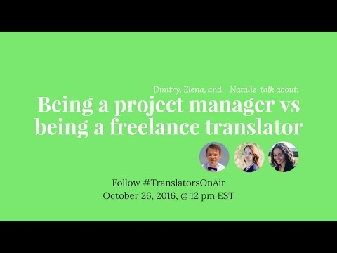 #TranslatorsOnAir Being a project manager vs being a freelance translator feat  @BellinguaNat