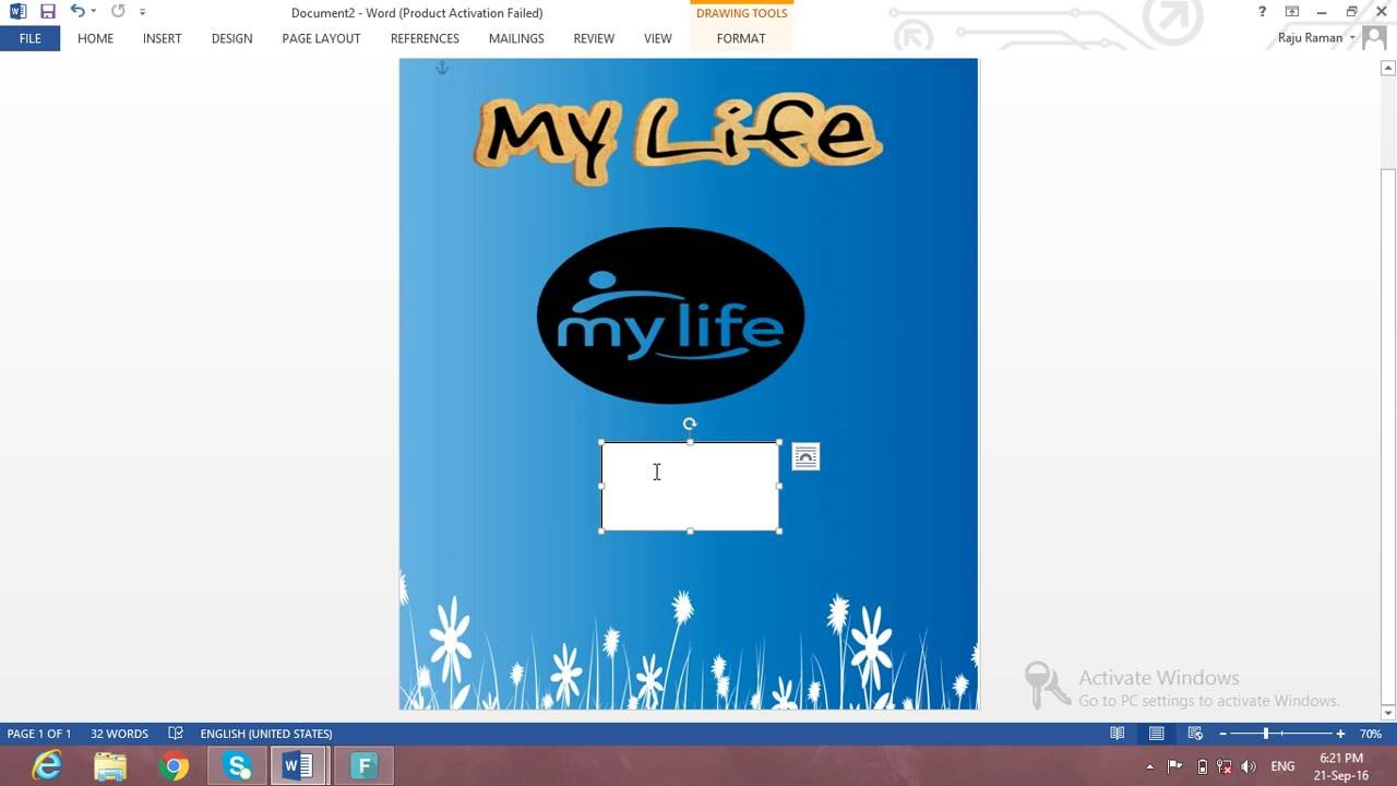 How To Make A Book Cover Using Word : How do make book cover using ms word youtube