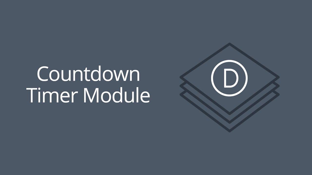 The Divi Countdown Timer Module | Elegant Themes Documentation