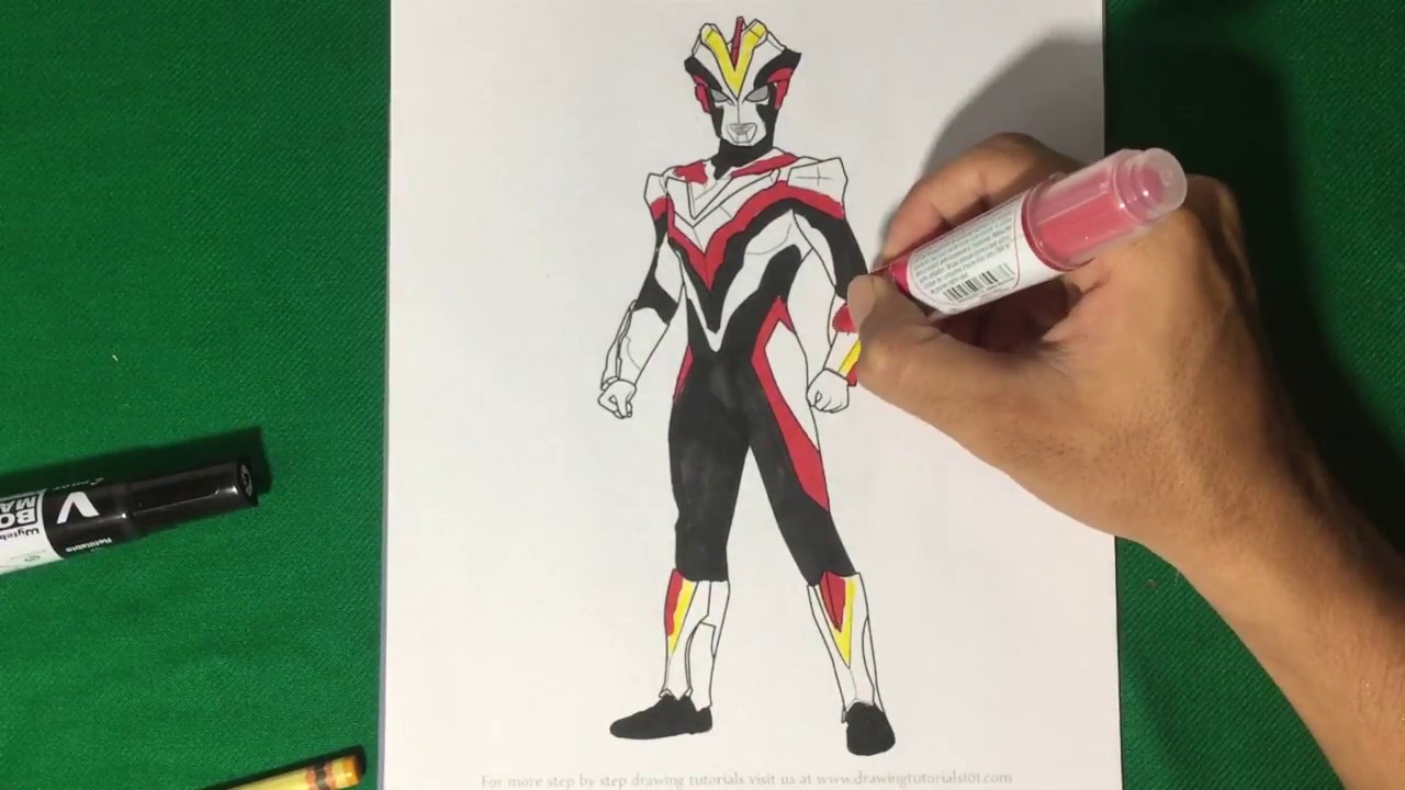 Ultraman Victory Standing Coloring Pages Sailany Coloring Kids Youtube