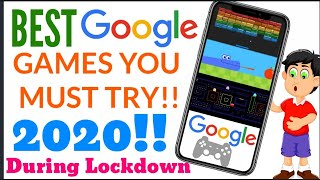 ✌️best🔥google🔥games!!you Must Try During Lockdown!!best & Top 7 Games Of Google!inbuilt Google Gam