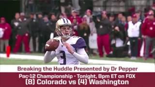 Repeat youtube video Pac-12 Championship Preview - (8) Colorado vs. (4) Washington | BREAKING THE HUDDLE WITH JOEL KLATT
