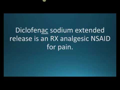 How to pronounce diclofenac sodium (Voltaren XR) (Memorizing Pharmacology Flashcard)