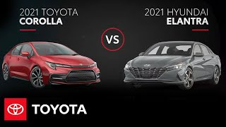 homepage tile video photo for 2021 Toyota Corolla vs. 2021 Hyundai Elantra | All You Need to Know | Toyota