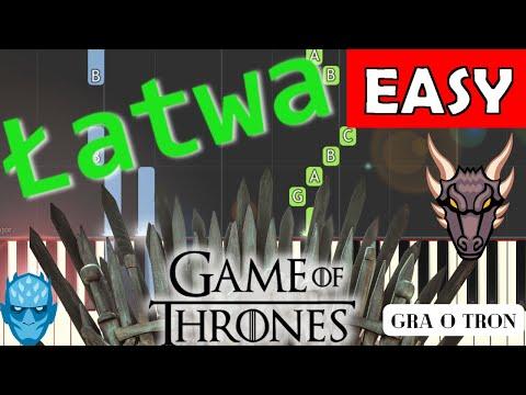 🎹 Gra o tron (motyw główny) - Piano Tutorial (łatwa wersja) 🎹