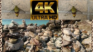 4k video 60fps Natural stone sea ทะเลหาดทรายหิน ธรรมชาติผ่อนคลาย