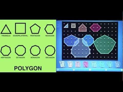 Polygons on GeoBoard App - YouTube