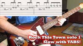 Rock This Town solo [Slow with TABS!]