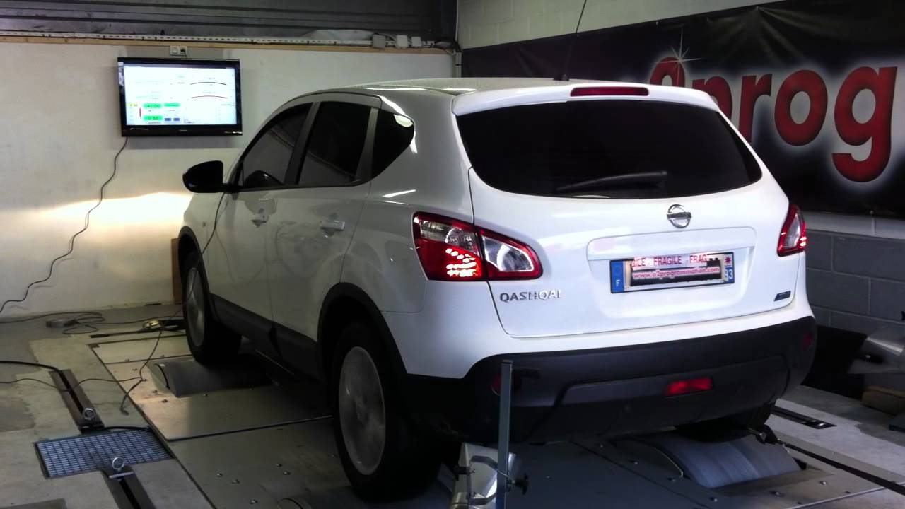 test dyno reprogrammation moteur nissan qashqai 2011 1 5 dci 110 129ch o2programmation youtube. Black Bedroom Furniture Sets. Home Design Ideas