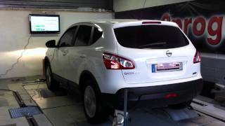 Test Dyno reprogrammation moteur Nissan Qashqai 2011 1.5 dci 110@129ch o2programmation