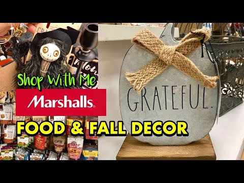 Marshalls Shop With Me For Food & Fall Home Decor HALLOWEEN